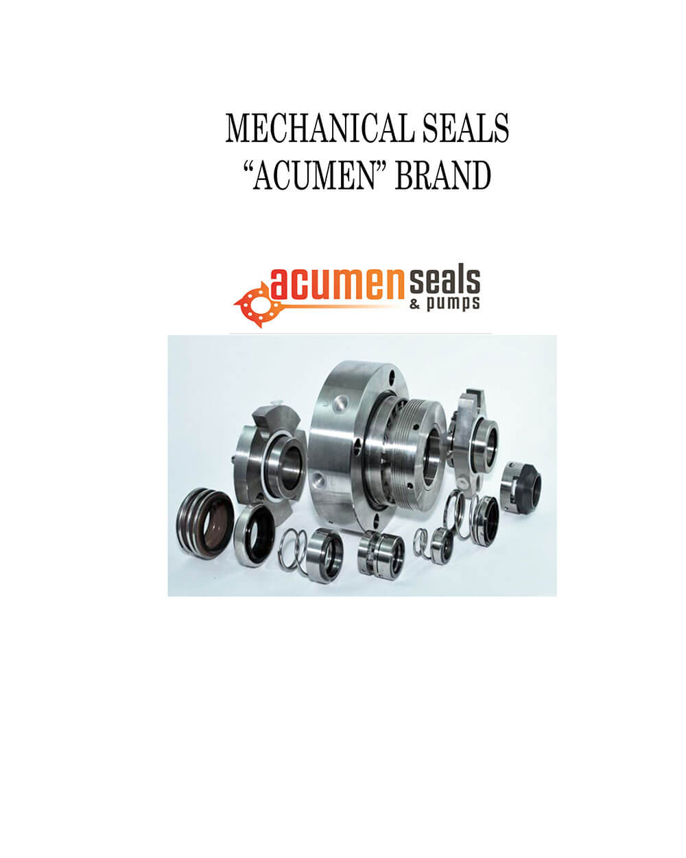 "Mechanical Seals ""Acumen"" Brand"