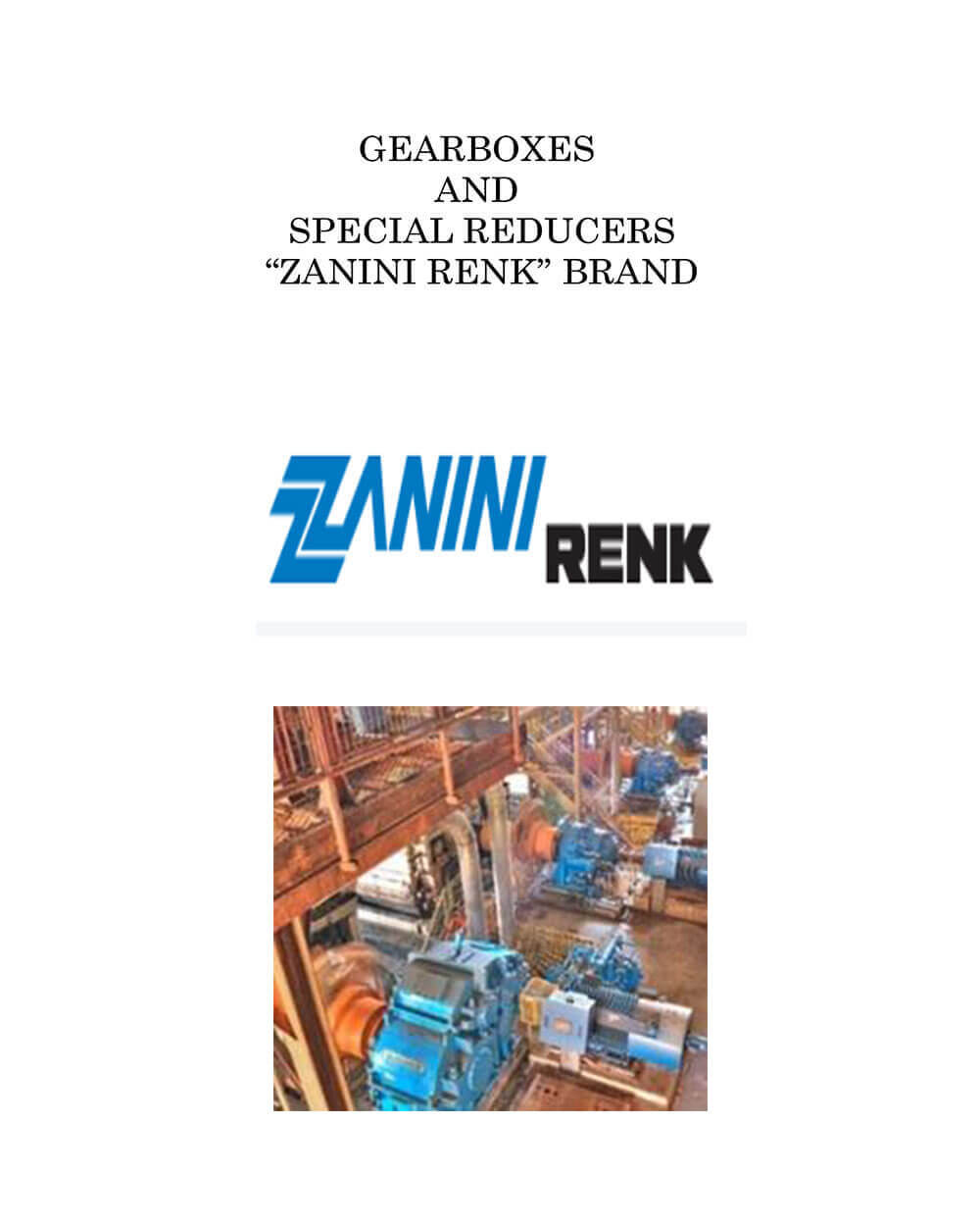 Gearboxes and Special Reducers